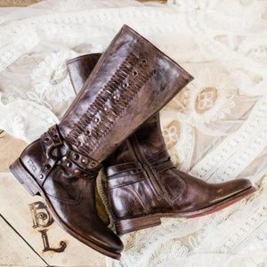 Bed Stu Selina Harness Woven Boots